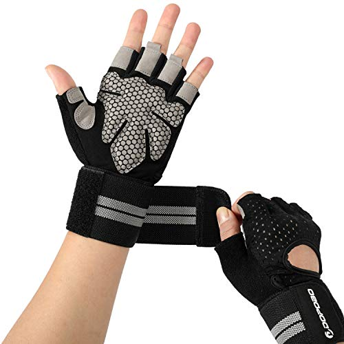 Workout Gloves, Weight Lifting Gloves : Gym Glove with Wrist Support for Weightlifting, Cycling, Pull Up, Dumbbell, Cross Training, Powerlifting, Fitness Exercise, WODs, Crossfit, Rowing, Climbing