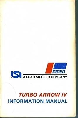 Turbo Arrow IV Information Manual - PA-28RT-201T - Handobbk Part No. 761 691