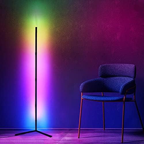 Viugreum Lumineszenzdiode Stehlampe Dimmbar RGB mit Fernbedienung,Farbwechsel Lichtsaeule Farbtemperaturen und Helligkeit Stufenlos Dimmbar,2800LM Stehleuchte zu Händen Wohnzimmer Schlafzimmer