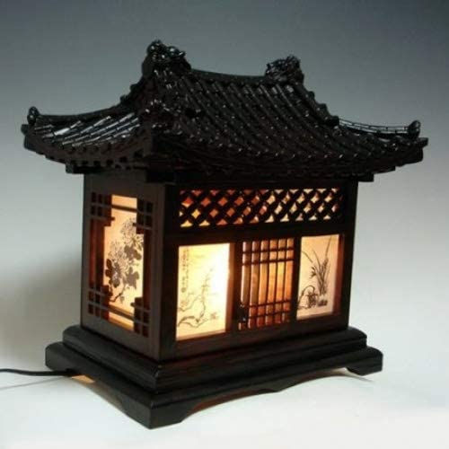 Lámpara de Madera Hecho a Mano Diseño de Casa Tradicional Coreana ...