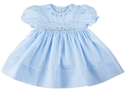 Feltman Brothers Infant Girls Blue Rose Garden Special Occasion Holiday Dress (18 Months)