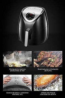 Tidylife Freidora de Aire Digital con programas preestablecidos, freír con Poco o sin Aceite 3.5 L, 1500 W (7 programas): Amazon.es: Hogar
