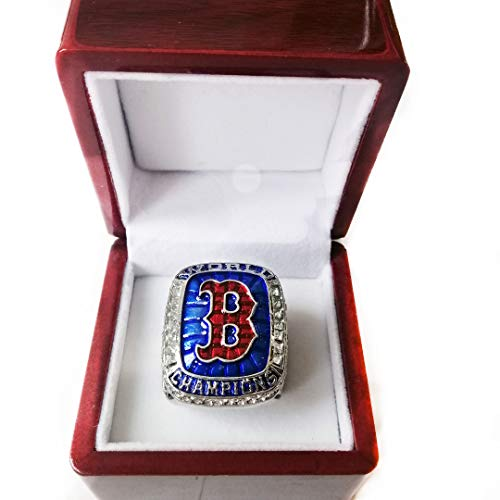 Nine Culture Red Sox (Steve Pearce) 2018 Replica Baseball Championship Ring Super Bowl Collectible Gift Fashion Football Size 8-13 with A Wooden Box (11) (Championship Rings Size 13)