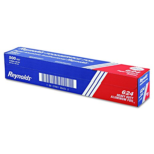 Heavy Duty Aluminum Foil Rolls - Reynolds 624 500' Length x 18