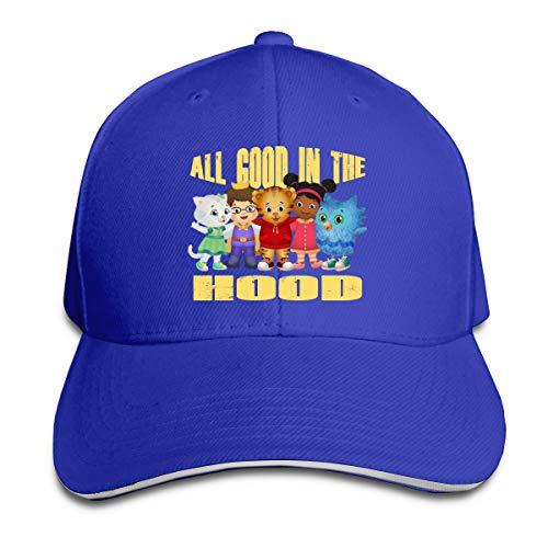 Corrine-S Daniel Tiger's Neighborhood Outdoor Walk Cotton Caps Hats Adjustable Blue