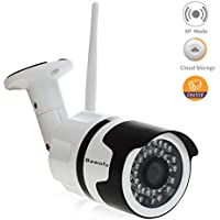 Bawofu 720P Outdoor Wireless Security Bullet Camera 1/4 CMOS,IP66 Waterproof Night/Day Surveillance Camera with Motion Detection,ONVIF and Cloud Storage Remote Viewing Via Smartphone,Tablet or PC