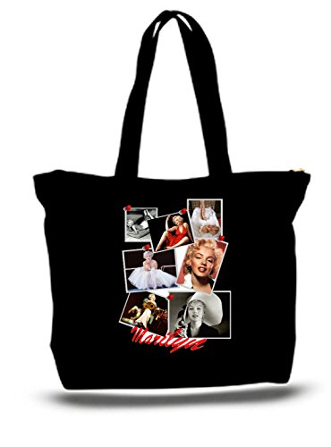 XXL 23 x 17 x 5 Canvas Cotton Tote Bag Marilyn Monroe Photo Collage