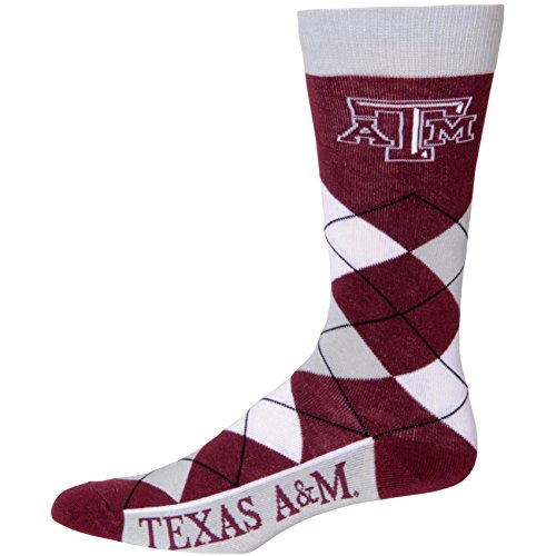 NCAA Texas A&M Aggies Argyle Unisex Crew Cut Socks - One Size Fits Most