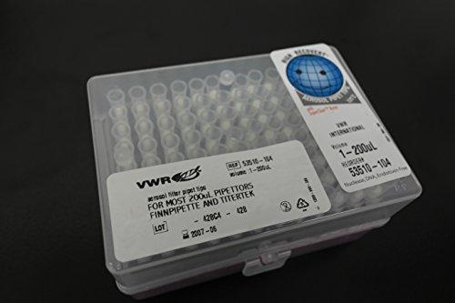VWR Aerosol Filter Pipet Tips 1-200uL 53510-104 96 Tips