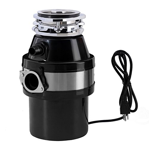 Garbage disposal continuous food feed home kitchen waste disposer w/plug 1.0 hp 2600 rpm by Wichai Shop