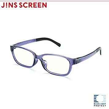 a65b787ee6 Image Unavailable. Image not available for. Color: JINS PC Glasses Clear  Lense (VIOLET)