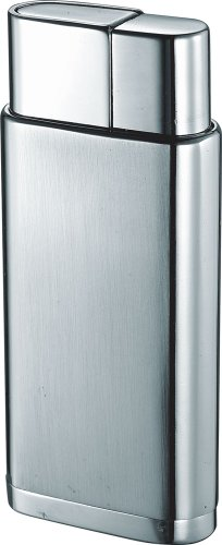 Visol Marco Satin Chrome Wind-Resistant Torch Flame Lighter (Chrome Flame Torch Polished Lighter)
