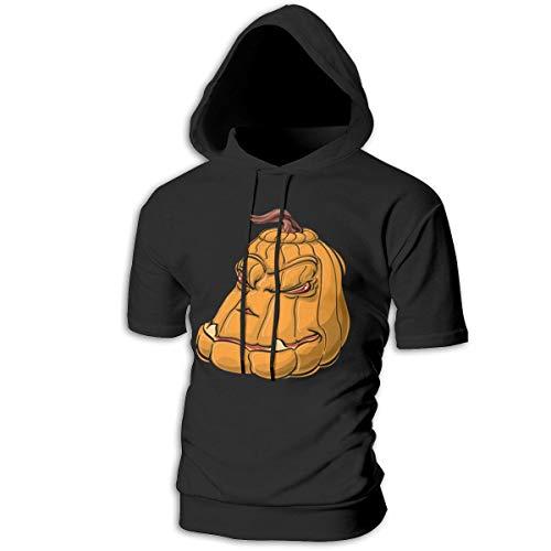 Mens Hoodies Halloween Pumpkin Face Hot Sweatshirts Hoodie Short Sleeve Shirt