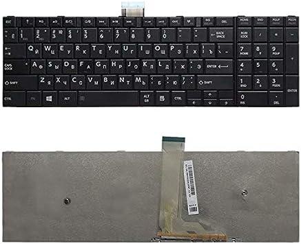 Color : Negro Teclado de Repuesto para Laptop Teclado RU Versi/ón for Toshiba Satellite C50-A C50-A506 C50D-A C55T-A C55-A C55D-A