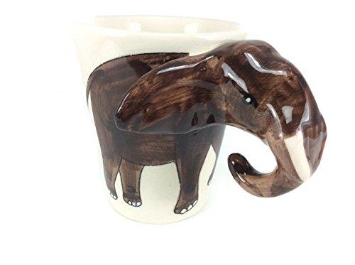 Elephant Large Mug Enamel Cartoon Painted Milk Glass Coffee cup Cute Mug Pottery Mug Set Anime Tea Cup Giant Mug Spirit Animal for - Reading Glasses Anthropologie