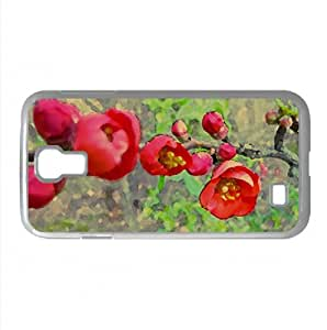Red Blossom Watercolor style Cover Samsung Galaxy S4 I9500 Case (Spring Watercolor style Cover Samsung Galaxy S4 I9500 Case)