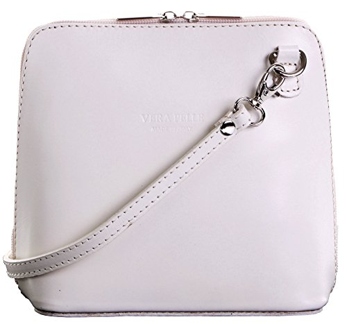 (Italian Leather, Cream Small/Micro Cross Body Bag or Shoulder Bag Handbag. Includes Branded a Protective Storage)