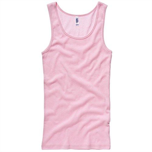 Bella Canvas Baby rib tank Top - Pink - XL