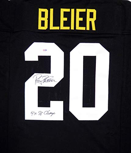 955af9fd9 Pittsburgh Steelers Rocky Bleier Autographed Black Jersey