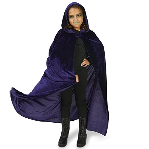 [Purple Velvet Child Cape One Size] (Maleficent Halloween Costumes For Girl)