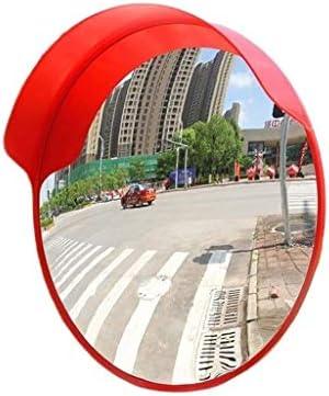 80cmコミュニティセーフティミラー、赤い耐久性のある球面ミラー屋外道路反射板凸型歩道交通ミラー(サイズ:80cm)