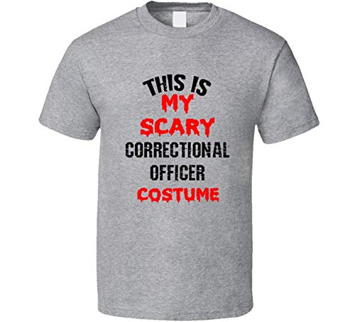 (SHAMBLES TEES This is My Scary Correctional Officer Costume Funny Occupation Halloween T Shirt L Sport)