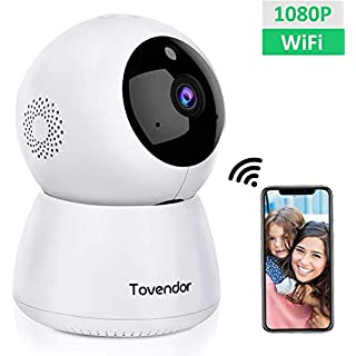 Tovendor IP Camera WiFi 1080P Home Dome Security System with Night Vision, Motion Detection, 2 Way Audio for Surveillance Baby Monitor - Cloud Service