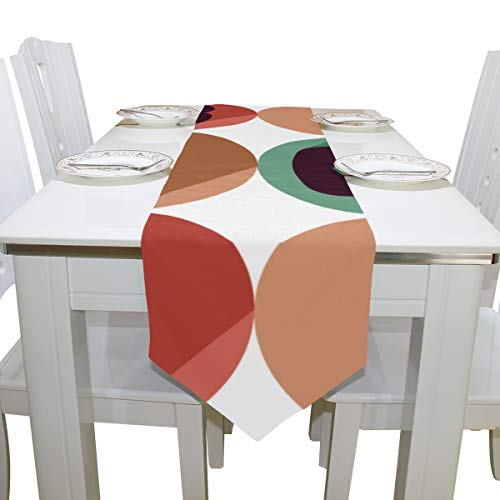 Table Linens Funny Little Moustache Diamond Table Runner Farmhouse Table Cloths for Kitchen Indoor Decoration Decor Table Covers Table Toppers 13x90 Inch]()