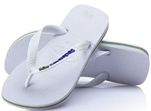 brasil Logo Authentic Eu Blanc 46 Sandales Plage Havaianas Blanc De Original Tongs df55qr