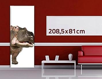 Dimensione Apalis Porta murale Ippopotamo II 221cm x 118cm