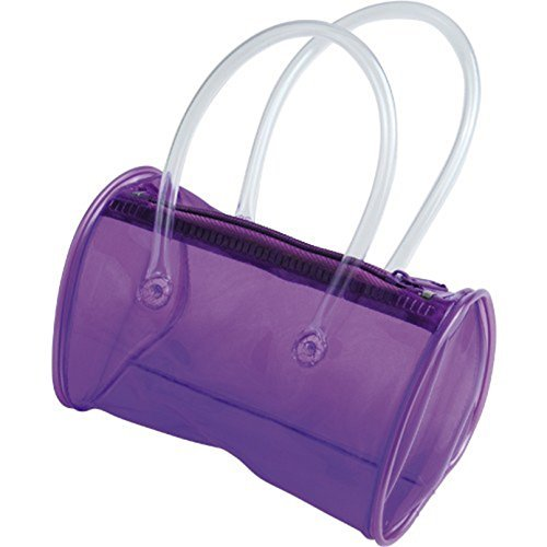 One Play Pretend Clear Purple Mini Child Size Plastic Purse Purple Plastic Purse