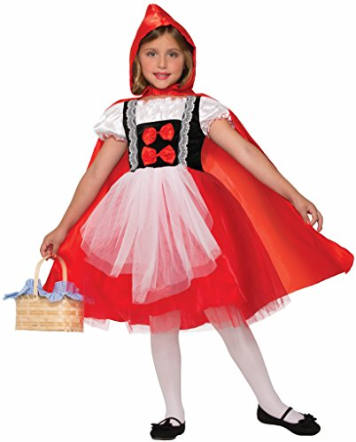 Forum Novelties Kids Red Riding Hood Dress and Cape Costume, Red, Large