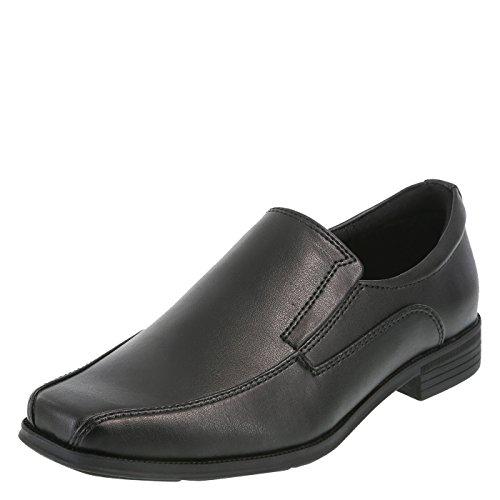 SmartFit Black Boys' Grant Slip-On Dress Shoes 4 ()