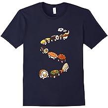 T-Shirt, Sushi Train, Japanese Foodie, Ikura, Sushi Roll