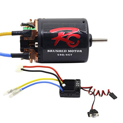 TANGON 540 Brushless Motor 60A Waterproof Brushless Electronic Speed Controller ESC Combo Set Upgrade Power System Combo for RC Rock Crawler (D)
