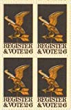 Register and Vote Set of 4 x 6 Cent US Postage Stamps NEW Scot 1344
