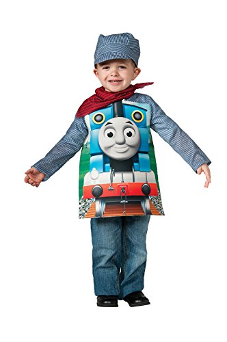 Rubie's Boy's Thomas Tank Engine Outfit Funny Theme Toddler Halloween Fancy Costume, Toddler (3T-4T) ()