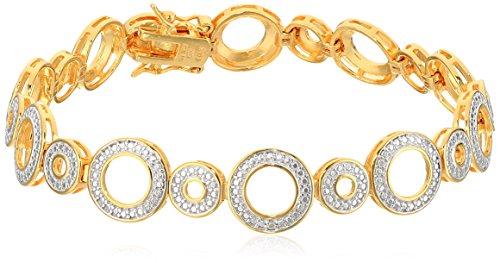 Diamond Accent Circle Bracelet - 1