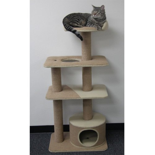 PetPal 4 Level Jute Made Cat Furniture, 22-Inch by 15-Inch by 52-Inch, My Pet Supplies
