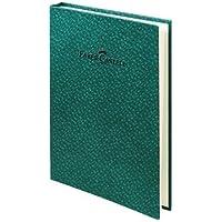 Faber-Castell 5075400751 Bambu Serisi A5 Gizli Spiralli Çizgili Not Defteri, Koyu Yeşil