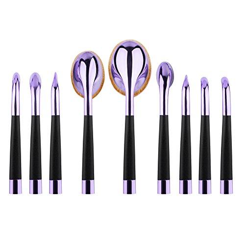 CINEEN Professional Pro 9Pcs/set Brush Makeup Toothbrush Blush - Professiona Makeup Brushes