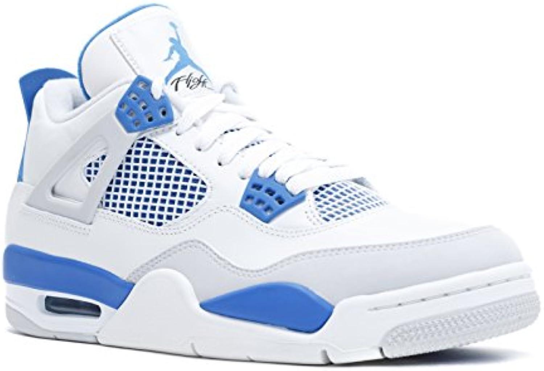 air 4 iv les militaires militaires militaires 4 est « blanc / gris bleu de militaires des chaussures de basket - ball masculin neutre 308497-105 (12 m) 1ccdf0