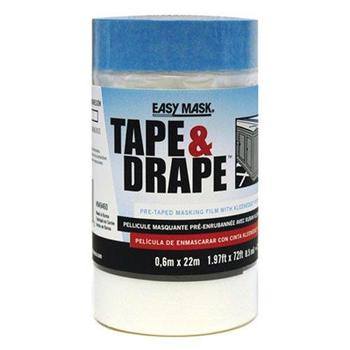 Easy Drape (Trimaco 24-Inch by 72-Feet Tape'n Drape Pre-Taped Mask Film 94946)