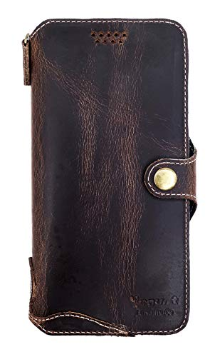 Yogurt for Motorola Moto Z Play (5.5 Inch) Genuine Leather Wallet Cases Cover Handmade Oil Leather