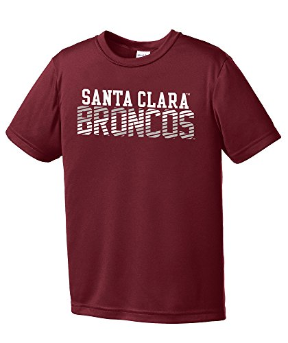 NCAA Santa Clara Broncos Youth Boys Diagonal Short sleeve Polyester Competitor T-Shirt, Youth - Santa Clara Store