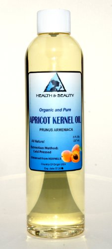 Apricot Kernel Oil Organic Carrier Cold Pressed 100% Pure 8 oz