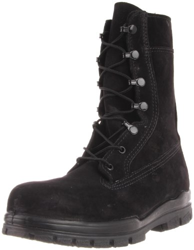Bates Women's 9 Inches Suede Durashocks Steel Toe Boot,Black,4.5 W US by Bates
