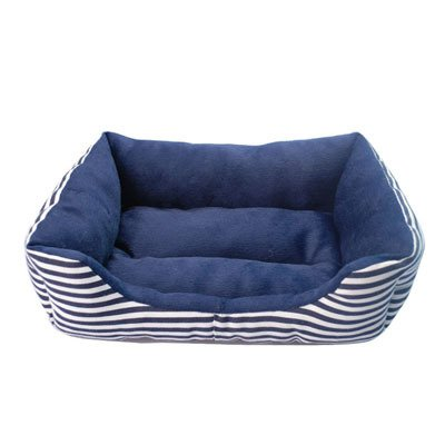 bluee S bluee S WeMore(TM) Classic Design Striped Pet Dog Beds All Season Waterproof Oxford Puppy House Canvas Sponge Padded Warm Dog Pens