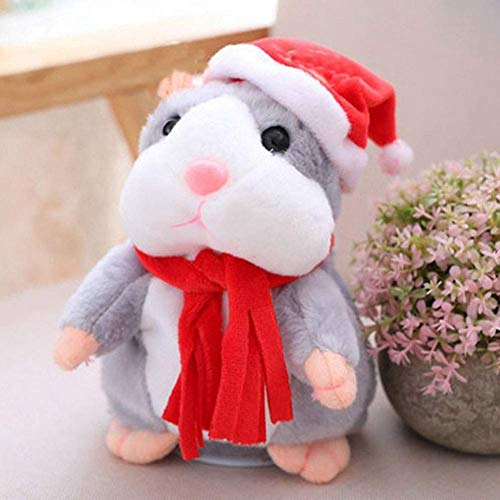 ALICIA Cheeky Hamster Talking Mouse pet Christmas Toy Speak Sound Record Hamster Xmas Gift for Kids Children