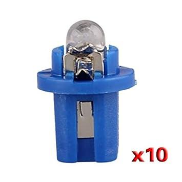 10 T5 Bombilla LED con Luz Azul para Salpicadero coche DC 12V: Amazon.es: Electrónica